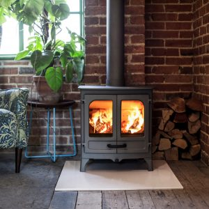 Charnwood All New Island I Gunmetal Stove
