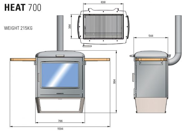 The Heat Collection of Barbecue Heaters HEAT 700