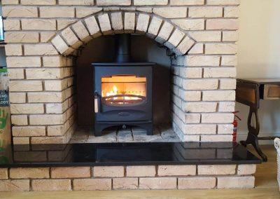 Inst Charnwood C Fiveblu Brick Fireplace