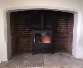 Inst Chesneys Salisbury 8ws Brick Fireplace