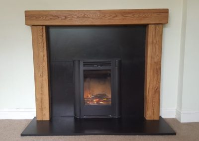 Inst Contura I4classic Timber Surround Granite