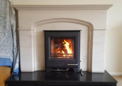 Inst Woodwarm Firebright Inset Stone Surround