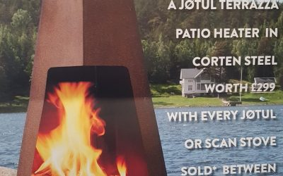 Scan/Jotul offer extended until 24 August 2019 Free Terrazza Patio Heater